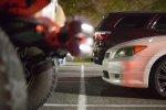 Auto auf Parkplatz